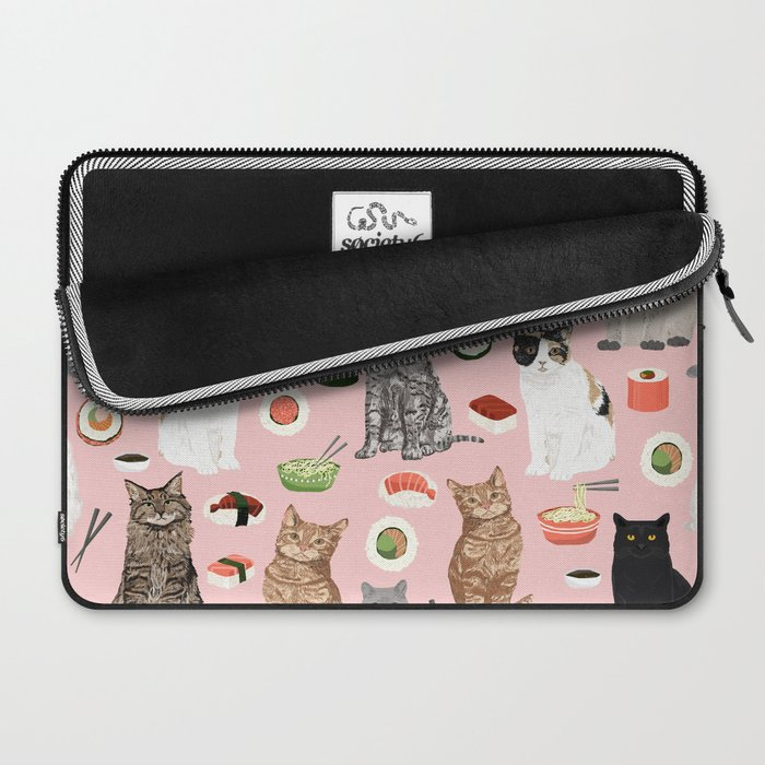 Cat breeds pure bred cats sushi kawaii pet gifts cat person must haves Laptop Sleeve