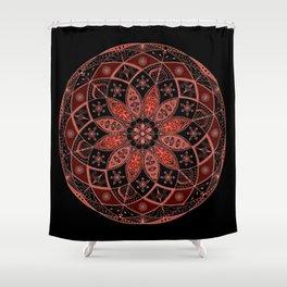 Autumn Fall Mandala Spirograph Art Pattern Design Rosette Shower Curtain
