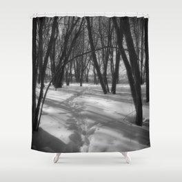 Deer Tracks Shower Curtain
