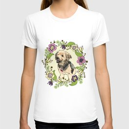 Puppy Wreath T-shirt