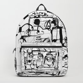 Birds on a Wire - b&w Backpack