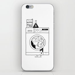 brain washed. heart washed iPhone Skin