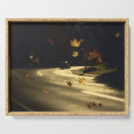 Autumn! Take me with you away from a dreadful winter! Serving Tray