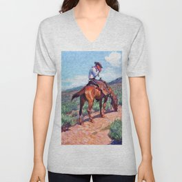 The Day Herder - William Herbert Dunton Unisex V-Neck