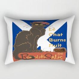 Le Chat Burns Nuit Haggis Dram Scottish Saltire Rectangular Pillow