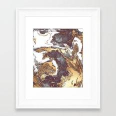 Black White Gold Framed Art Print