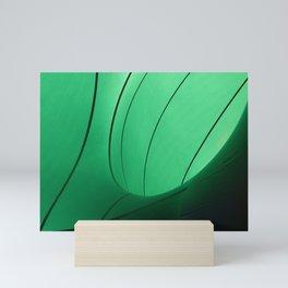Green pattern Mini Art Print