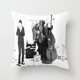 New Orleans Music in the Streets Throw Pillow