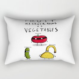 Fruit Masquerading as Vegetables Rectangular Pillow
