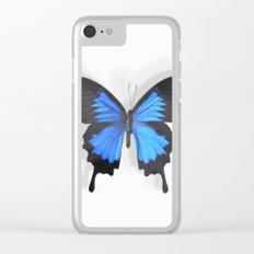 Botanical Bufferfly Clear iPhone Case