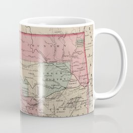 Vintage Map of Oklahoma (1869) Coffee Mug