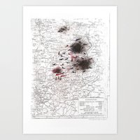 battlefield Art Prints featuring Battlefield I by Ale Santos