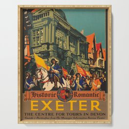 retro poster Exeter Serving Tray