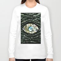 evil eye Long Sleeve T-shirts featuring Evil Eye by Lilly Guastella
