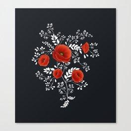 Poppy graphic Canvas Print