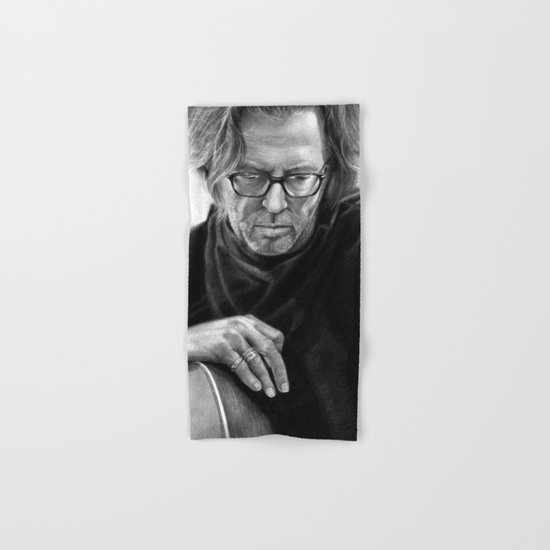 Eric Clapton PENCIL DRAWING Hand & Bath Towel