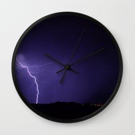 Lightning Strikes - II Wall Clock