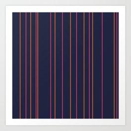Pinks & oranges lines Art Print
