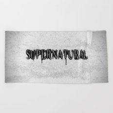 Supernatural monochrome Beach Towel