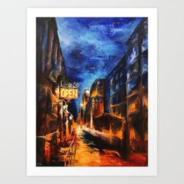 """Leaving New York"" Painting Art Print"