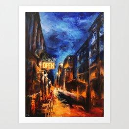 """Leaving New York"" Painting Art Print"