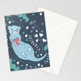 Otterly in Love Stationery Cards