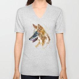 Coyote Head Unisex V-Neck