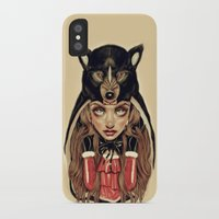 red hood iPhone & iPod Cases featuring Red Riding Hood by Giulio Rossi