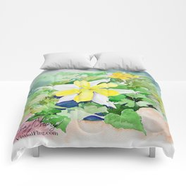WXTX Columbine Texas Star Flower Comforters