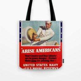 Arise Amricans Tote Bag