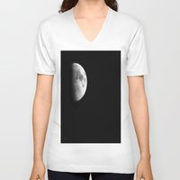 dark side of the moon V-neck T-shirts featuring Dark Side of the Moon by Catherine1970
