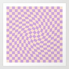 Check V - Lilac Twist Art Print