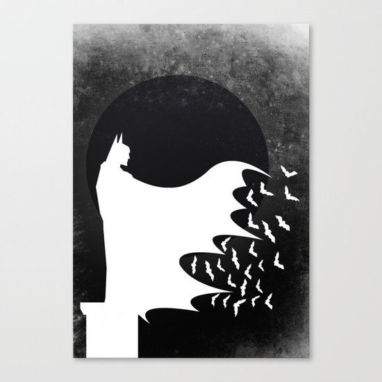 Knight Rising Inverted  Canvas Print