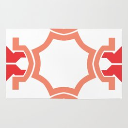 Red four sides Rug