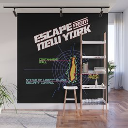 ESCAPE FROM NEW YORK MAP Wall Mural