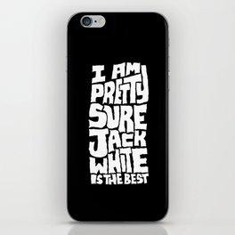 Jack White iPhone Skin