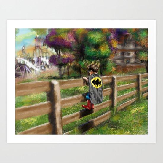 Saving Gotham Art Print