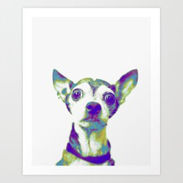 Psychedelic Chihuahua Art Print