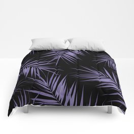 Palm Leaves Cali Finesse #5 #UltraViolet #Black #tropical #decor #art #society6 Comforters