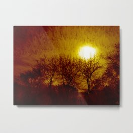 And The Sky Melted.... Metal Print
