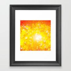 Shimmering Stars Orange Framed Art Print
