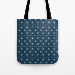 Blue Circles on Blue Tote Bag