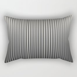 Soft Industrial Cream and Black Blended Random Vertical Lines Rectangular Pillow
