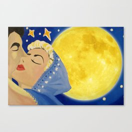 Lovers Loving Canvas Print