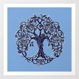 Tree of Life Blue Art Print