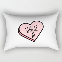 Single AF | Funny Valentine's Candy Heart Rectangular Pillow