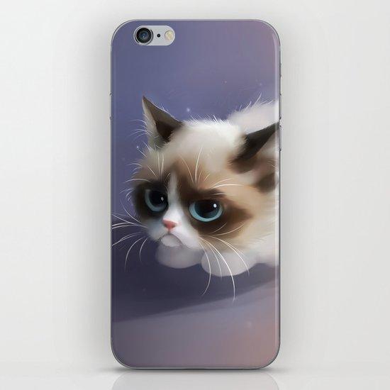 little grumpy things iPhone Skin
