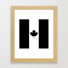 Canada: Black Military Flag Framed Art Print