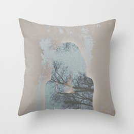 A Ghost in the Trees Throw Pillow