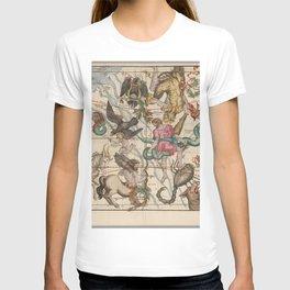 Ignace-Gaston Pardies - Globi coelestis Plate 5: Hercules, Sagittarius and other constellations 1693 T-shirt